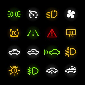 27354215 - car dashboard icons
